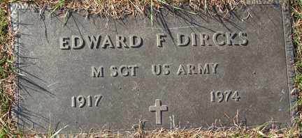 DIRCKS, EDWARD F. (MILITARY) - Minnehaha County, South Dakota | EDWARD F. (MILITARY) DIRCKS - South Dakota Gravestone Photos
