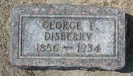 DISBERRY, GEORGE F. - Minnehaha County, South Dakota | GEORGE F. DISBERRY - South Dakota Gravestone Photos