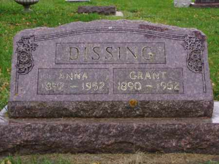 DISSING, GRANT - Minnehaha County, South Dakota | GRANT DISSING - South Dakota Gravestone Photos