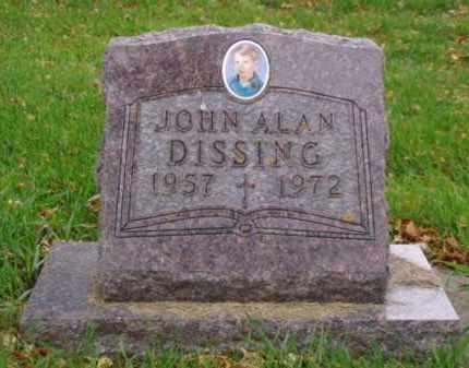 DISSING, JOHN ALAN - Minnehaha County, South Dakota   JOHN ALAN DISSING - South Dakota Gravestone Photos