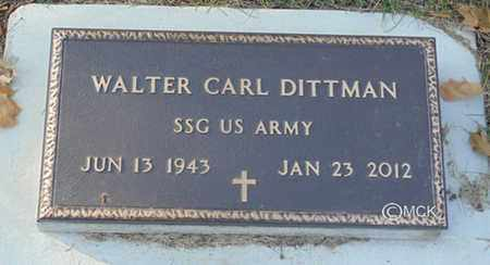 DITTMAN, WALTER CARL - Minnehaha County, South Dakota | WALTER CARL DITTMAN - South Dakota Gravestone Photos
