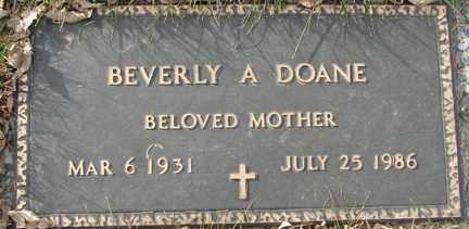 DOANE, BEVERLY A. - Minnehaha County, South Dakota | BEVERLY A. DOANE - South Dakota Gravestone Photos