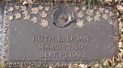DOANE, RUTH E. - Minnehaha County, South Dakota | RUTH E. DOANE - South Dakota Gravestone Photos