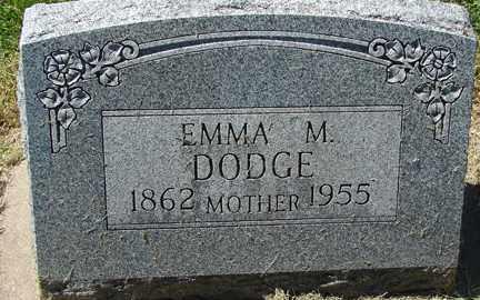 DODGE, EMMA M. - Minnehaha County, South Dakota   EMMA M. DODGE - South Dakota Gravestone Photos