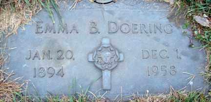 DOERING, EMMA B. - Minnehaha County, South Dakota | EMMA B. DOERING - South Dakota Gravestone Photos