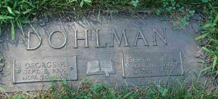 DOHLMAN, GEORGE H. - Minnehaha County, South Dakota | GEORGE H. DOHLMAN - South Dakota Gravestone Photos