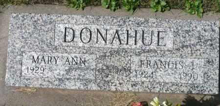 DONAHUE, FRANCIS J. - Minnehaha County, South Dakota   FRANCIS J. DONAHUE - South Dakota Gravestone Photos