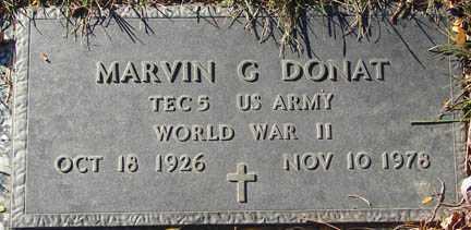 DONAT, MARVIN G. - Minnehaha County, South Dakota | MARVIN G. DONAT - South Dakota Gravestone Photos