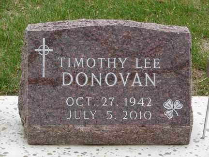 DONOVAN, TIMOTHY LEE - Minnehaha County, South Dakota | TIMOTHY LEE DONOVAN - South Dakota Gravestone Photos