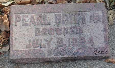 DOSS, PEARL BRITT - Minnehaha County, South Dakota   PEARL BRITT DOSS - South Dakota Gravestone Photos