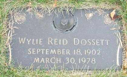 DOSSETT, WYLIE REID - Minnehaha County, South Dakota | WYLIE REID DOSSETT - South Dakota Gravestone Photos