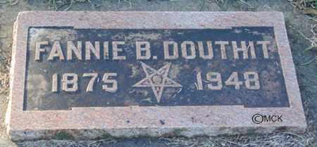 DOUTHIT, FANNIE B. - Minnehaha County, South Dakota   FANNIE B. DOUTHIT - South Dakota Gravestone Photos