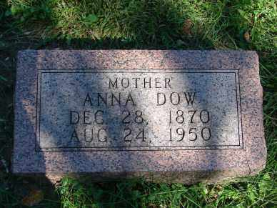 DOW, ANNA - Minnehaha County, South Dakota | ANNA DOW - South Dakota Gravestone Photos