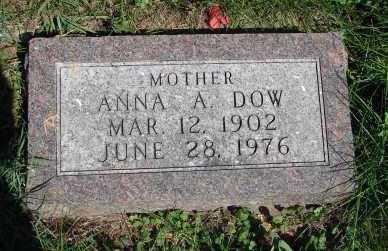 DOW, ANNA A. - Minnehaha County, South Dakota   ANNA A. DOW - South Dakota Gravestone Photos