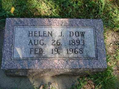 DOW, HELEN J. - Minnehaha County, South Dakota   HELEN J. DOW - South Dakota Gravestone Photos