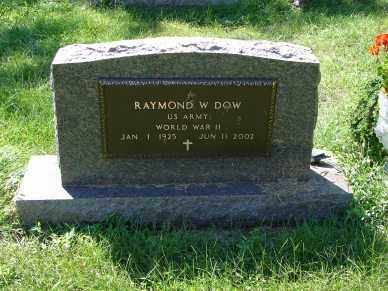 DOW, RAYMOND W. - Minnehaha County, South Dakota | RAYMOND W. DOW - South Dakota Gravestone Photos