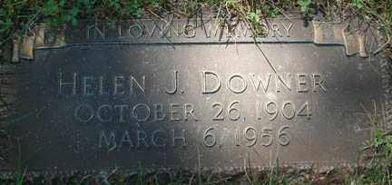 DOWNER, HELEN J. - Minnehaha County, South Dakota | HELEN J. DOWNER - South Dakota Gravestone Photos