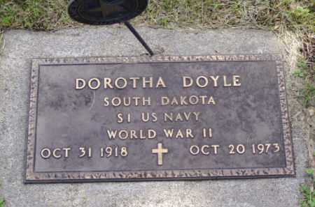 DOYLE, DOROTHA - Minnehaha County, South Dakota | DOROTHA DOYLE - South Dakota Gravestone Photos