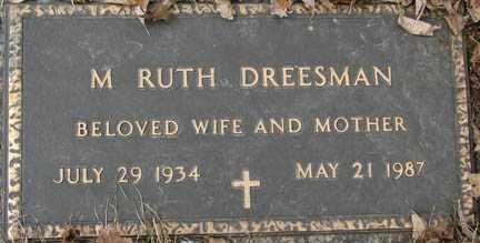 DREESMAN, M. RUTH - Minnehaha County, South Dakota | M. RUTH DREESMAN - South Dakota Gravestone Photos