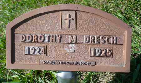 DRESCH, DOROTHY M. - Minnehaha County, South Dakota   DOROTHY M. DRESCH - South Dakota Gravestone Photos
