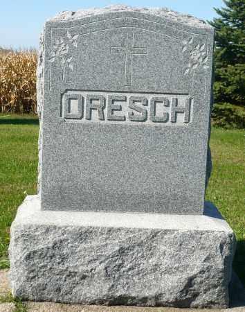 DRESCH, FAMILY MARKER - Minnehaha County, South Dakota | FAMILY MARKER DRESCH - South Dakota Gravestone Photos