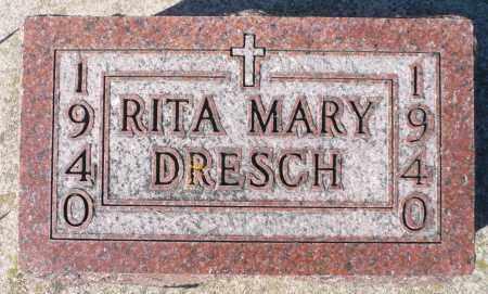 DRESCH, RITA MARY - Minnehaha County, South Dakota | RITA MARY DRESCH - South Dakota Gravestone Photos