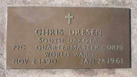DRESSEN, CHRIS (WWI) - Minnehaha County, South Dakota | CHRIS (WWI) DRESSEN - South Dakota Gravestone Photos