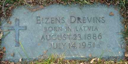 DREVINS, EIZENS - Minnehaha County, South Dakota   EIZENS DREVINS - South Dakota Gravestone Photos