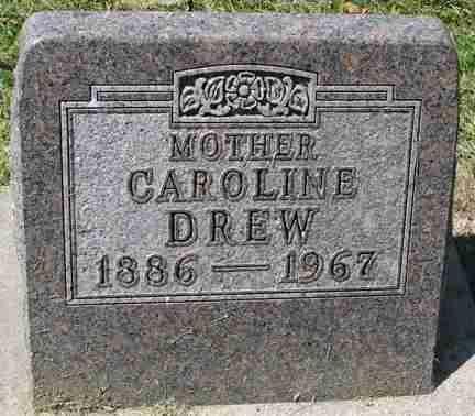 DREW, CAROLINE - Minnehaha County, South Dakota | CAROLINE DREW - South Dakota Gravestone Photos