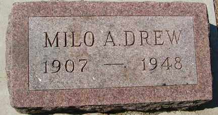 DREW, MILO A. - Minnehaha County, South Dakota | MILO A. DREW - South Dakota Gravestone Photos