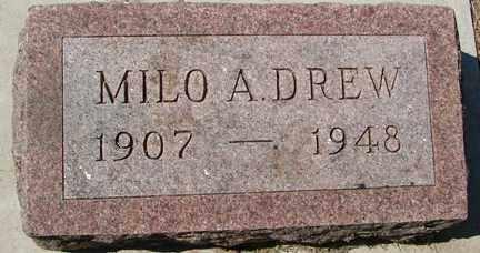 DREW, MILO A. - Minnehaha County, South Dakota | MILO A. DREW - South Dakota Gravestone Photos