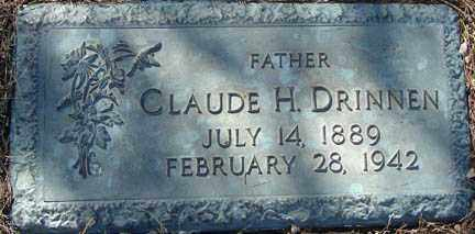 DRINNEN, CLAUDE H. - Minnehaha County, South Dakota | CLAUDE H. DRINNEN - South Dakota Gravestone Photos