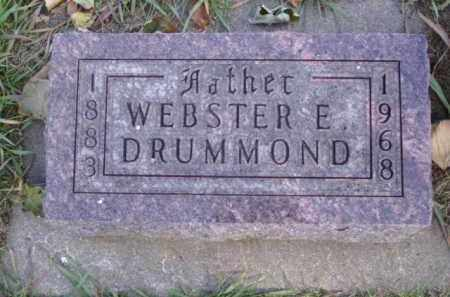 DRUMMOND, WEBSTER ERASTUS - Minnehaha County, South Dakota | WEBSTER ERASTUS DRUMMOND - South Dakota Gravestone Photos