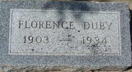 DUBY, FLORENCE - Minnehaha County, South Dakota | FLORENCE DUBY - South Dakota Gravestone Photos
