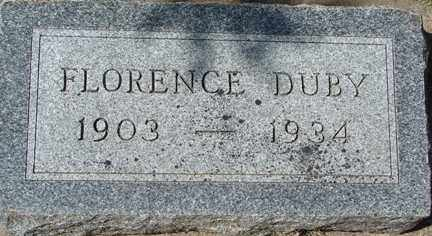 DUBY, FLORENCE - Minnehaha County, South Dakota | FLORENCE DUBY - South Dakota Gravestone Photos