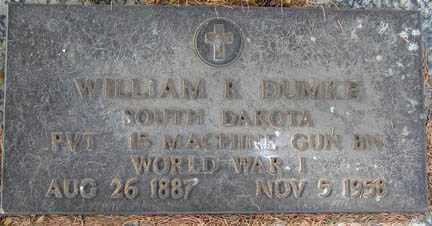DUMKE, WILLIAM - Minnehaha County, South Dakota | WILLIAM DUMKE - South Dakota Gravestone Photos