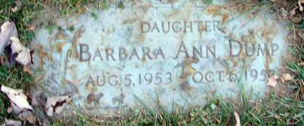 DUMP, BARBARA ANN - Minnehaha County, South Dakota | BARBARA ANN DUMP - South Dakota Gravestone Photos