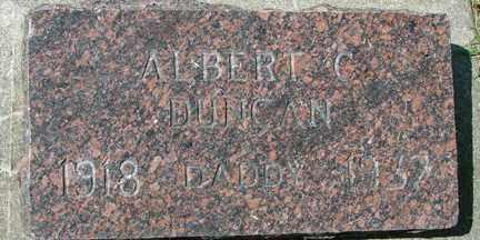 DUNCAN, ALBERT C. - Minnehaha County, South Dakota | ALBERT C. DUNCAN - South Dakota Gravestone Photos