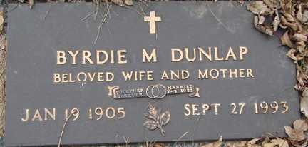 DUNLAP, BYRDIE M. - Minnehaha County, South Dakota | BYRDIE M. DUNLAP - South Dakota Gravestone Photos