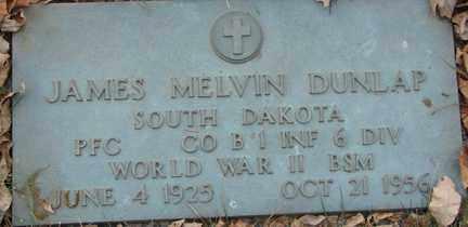 DUNLAP, JAMES MELVIN (WWII) - Minnehaha County, South Dakota | JAMES MELVIN (WWII) DUNLAP - South Dakota Gravestone Photos