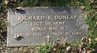 DUNLAP, RICHARD K. - Minnehaha County, South Dakota   RICHARD K. DUNLAP - South Dakota Gravestone Photos