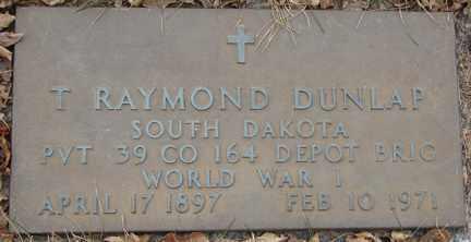 DUNLAP, T. RAYMOND (WWI) - Minnehaha County, South Dakota   T. RAYMOND (WWI) DUNLAP - South Dakota Gravestone Photos