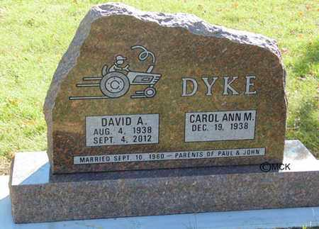DYKE, DAVID A. - Minnehaha County, South Dakota | DAVID A. DYKE - South Dakota Gravestone Photos