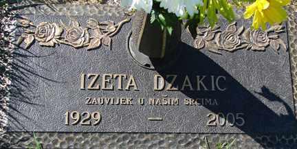 DZAKIC, IZETA - Minnehaha County, South Dakota   IZETA DZAKIC - South Dakota Gravestone Photos