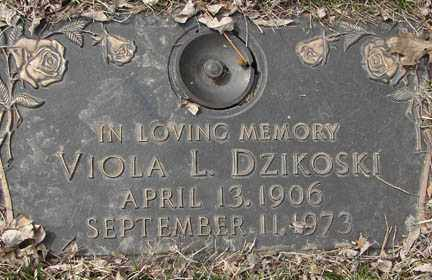 DZIKOSKI, VIOLA L. - Minnehaha County, South Dakota | VIOLA L. DZIKOSKI - South Dakota Gravestone Photos