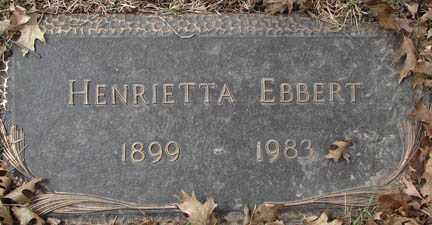 EBBERT, HENRIETA - Minnehaha County, South Dakota | HENRIETA EBBERT - South Dakota Gravestone Photos