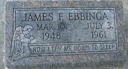 EBBINGA, JAMES F. - Minnehaha County, South Dakota   JAMES F. EBBINGA - South Dakota Gravestone Photos