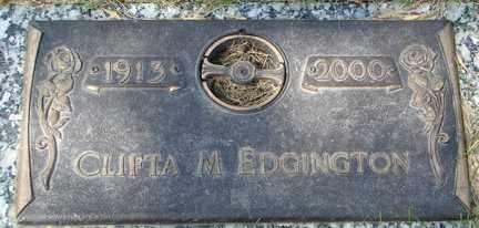 EDDINGTON, CLIFTA M. - Minnehaha County, South Dakota   CLIFTA M. EDDINGTON - South Dakota Gravestone Photos