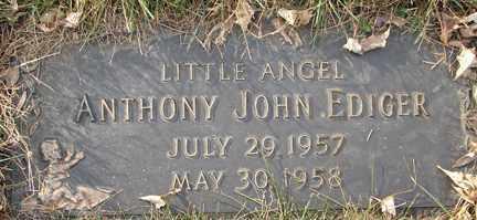 EDIGER, ANTHONY JOHN - Minnehaha County, South Dakota | ANTHONY JOHN EDIGER - South Dakota Gravestone Photos