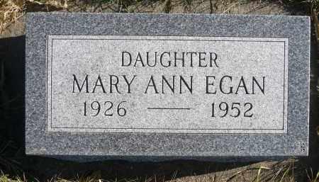 EGAN, MARY ANN - Minnehaha County, South Dakota | MARY ANN EGAN - South Dakota Gravestone Photos
